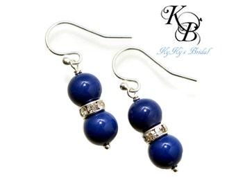 Something Blue Earrings, Blue Pearl Earrings, Blue Earrings, Bridesmaid Jewelry, Blue Jewelry, Something Blue, Wedding Jewelry