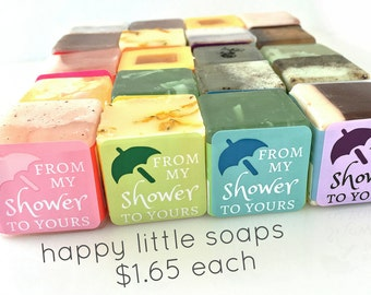 "Wedding Shower Favors - ""From My Shower to Yours"" - 20 label Colors to Choose From - Fun & Unique Party Soap Favors"