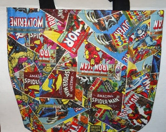 Marvel Avengers Comic Book Tote Bag
