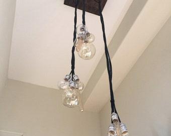 15 bulb modern industrial chandelier