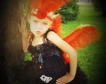 Show girl costume, OOC, theme wear, pageant dress,halloween costume with head piece included
