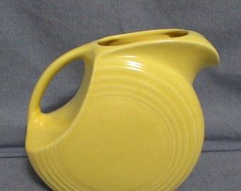 Pitcher, Water or Juice, Fiesta Original, Golden Yellow, 1940's