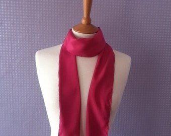 Pink chiffon scarf skinny scarf
