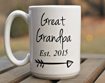 Great Grandpa Mug, Fathers day gift, Baby reveal, Birth announcement, New Great Grandpa gift