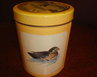 L. Zillich Vintage Duck Tin/Vintage tin/Storage and Organization/Vintage Tins/ Vintage Mallard Duck Tin