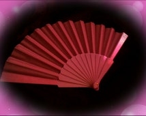 "9"" Chinese nylon folding hand fan"