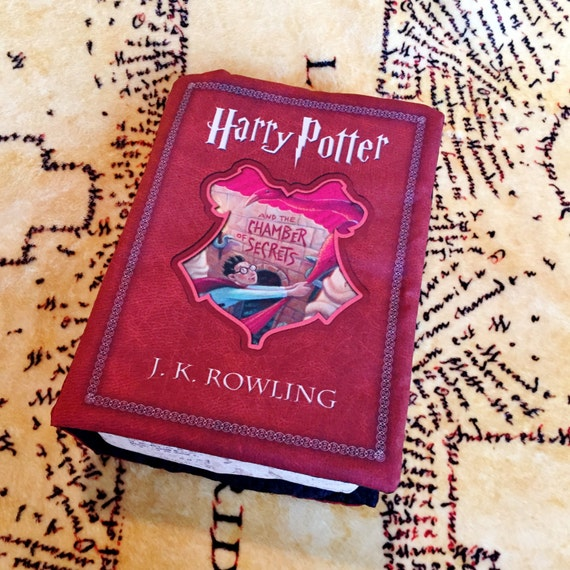 Harry Potter Book Cover Fabric : Harry potter book pillow chamber of secrets by