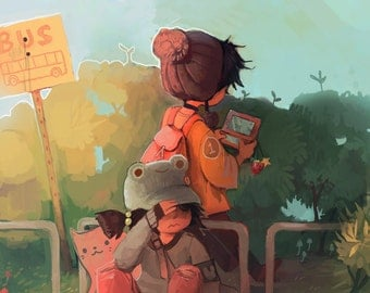 "bus stop // 5"" x 7"" mini print"