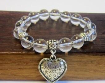 Clear Quartz Bracelet,All Chakra Bracelet, Energy Bracelet, Healing Bracelet, Powerful Bracelet, Body Balance Bracelet, Harmony Bracelet