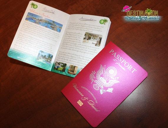 Destination Wedding Invitations Passport: Vanessa's Destination Wedding Invitations DIY Metallic