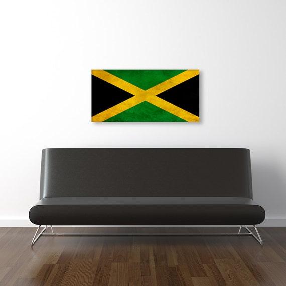 Vintage jamaican flag room decor gift ideas fine art for Room decor jamaica