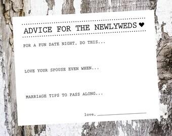 Wedding Advice Cards - Packs of 25-200