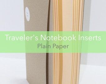 Plain Paper Traveler's Notebook Insert Booklet {Standard Size} // Choose Cover & Paper Colors!