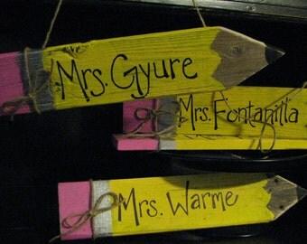 Personalized teacher pencils!