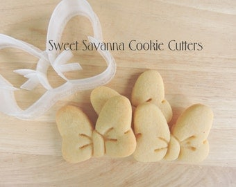 Bow Cookie Cutter with emboss detail