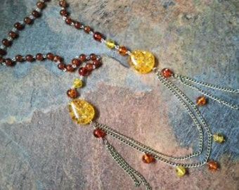 Glowing Embers, a hand made fashion necklace