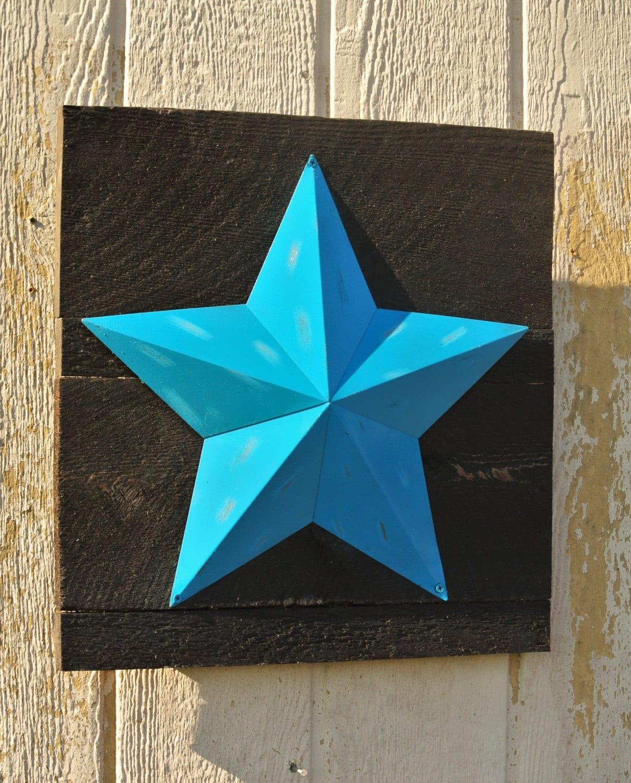Barn Star Rustic Star Decoration Teal Western Decor Farmhouse