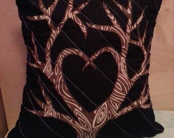 Tree Lovers Heart Tree Pillow