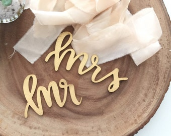 Mr. and Mrs. Place Cards