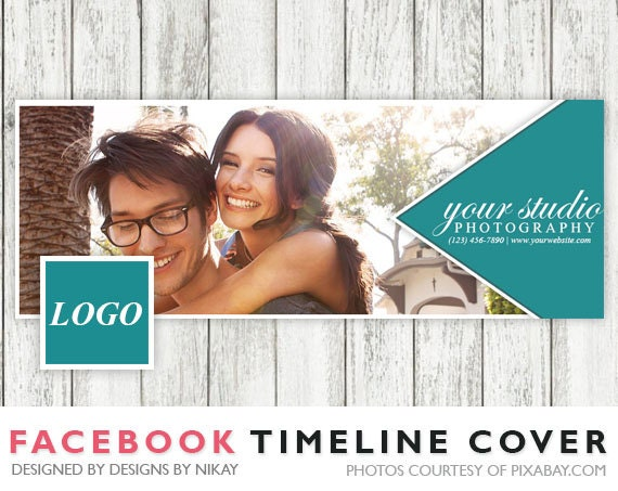 Facebook Timeline Cover // Photoshop Template // INSTANT DOWNLOAD // FB004