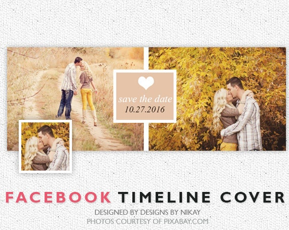 Facebook Timeline Cover // Photoshop Template // INSTANT DOWNLOAD // FB006
