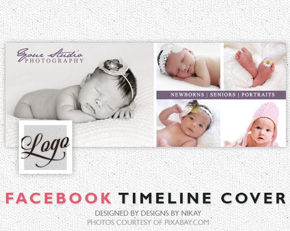 Facebook Timeline Cover // Photoshop Template // INSTANT DOWNLOAD // FB014