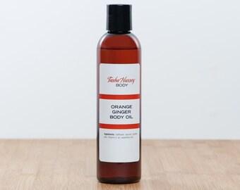 Orange Ginger Body Oil, Ginger Body Oil, Orange Body Oil