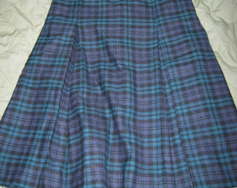 Royal Park School Uniform Girls 14 Teen 2 kick pleat front and back skirt