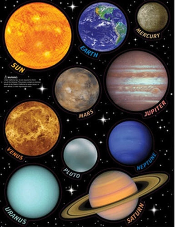 Solar System Large Planet Decals Wall by BerriesandCherries