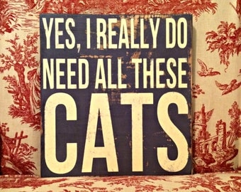 need {cats} sign