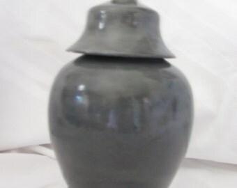 Washed Black Vase/Urn