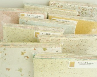 Handmade Recycled Paper - 40 sheet Scrap Pack -  Craft Pack