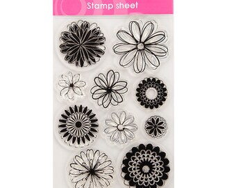WE ARE 1 SALE! Flowers Clear Stamp Set
