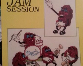 Vintage Cross Stitch Pattern  California Raisins Jam Session