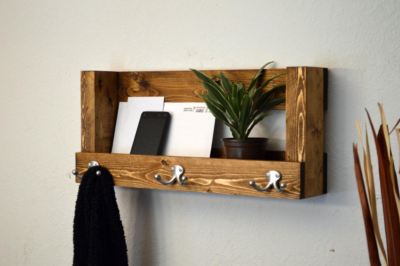 wall organizer entryway shelf keys phone mail by. Black Bedroom Furniture Sets. Home Design Ideas