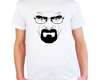 Mens & Womens T-Shirt with Most Popular TV Series Breaking Bad / Heisenberg Face Shirts / Hail to the King Shirt + Free Random Decal Gift