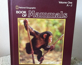 Vintage National Geographic book of Mammals