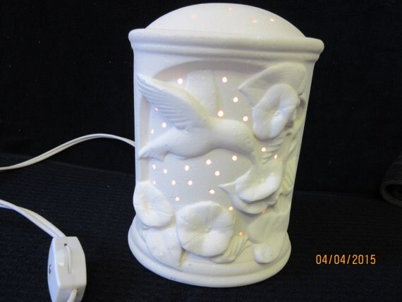 Night Light Lamp Humming Bird Porcelain Bird By