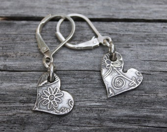 Boho Heart Earrings