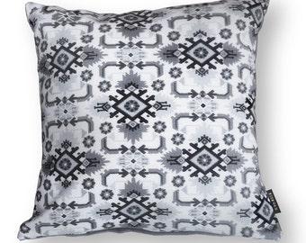 Black White Grey velvet cushion cover AVOCET