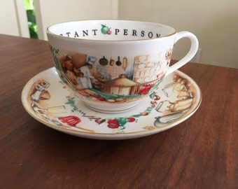 Royal Worcester VIP Kitchen Theme Cup and Saucer