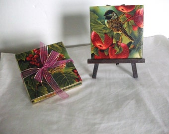 Bird Handmade Decorative Ceramic Tile Coasters