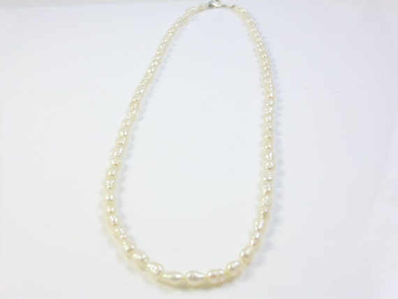 dainty pearl necklace tiny pearl necklace freshwater pearls