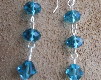 Sterling silver Swarovski earrings.