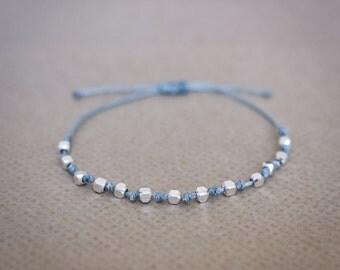 Beads Bracelet, Pearl Bracelet, Friendship Bracelet, Silver Pearl Bracelet, Pearl Charm, Handmade Bracelet, Bridesmaid Gift