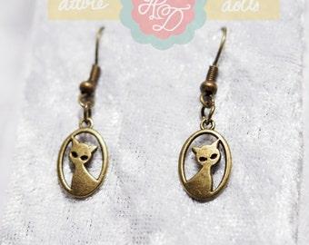 Cat Silhouette Earrings