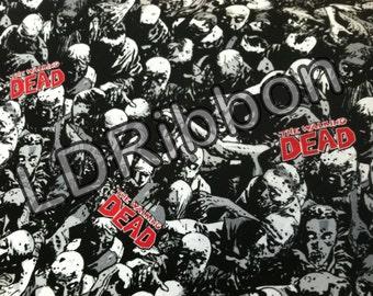Walking Dead Zombies Fabric