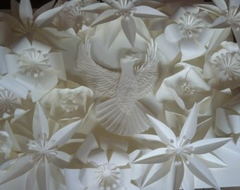 Intricate Paper Sculptures for Hanging