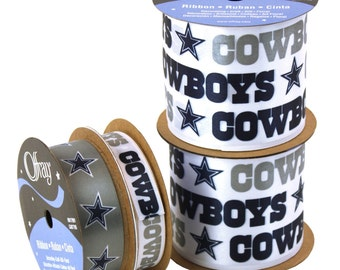 NFL Dallas Cowboys Ribbon, 4-pack of Ribbon, Licensed NFL Offray Ribbon