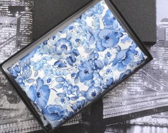 Pocket Square, blue floral pocket square